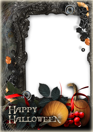 Photo frame - Halloween in the old castle