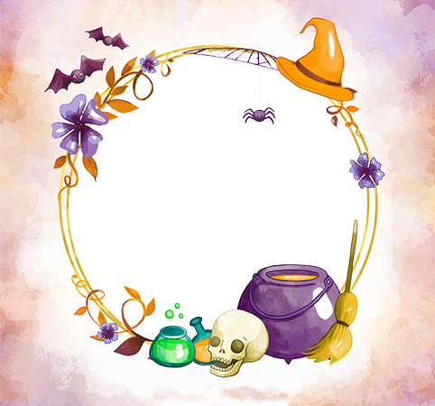 Photo frame - Halloween magic potion