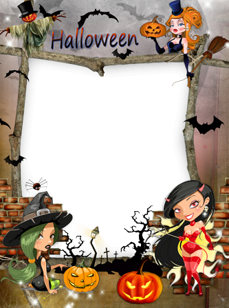 Photo frame - Halloween witches