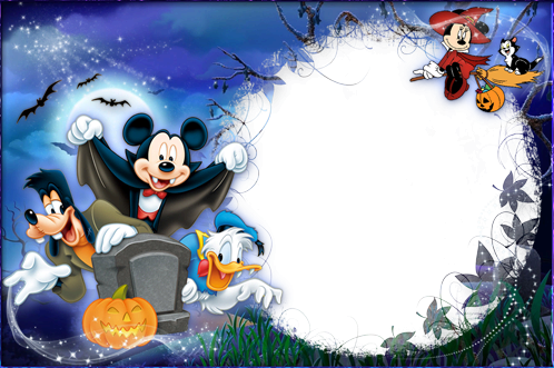 Photo frame - Halloween with Mickey and friends