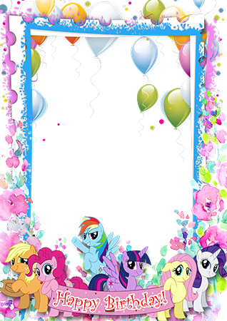 Фоторамка - Happy Birthday. My little pony