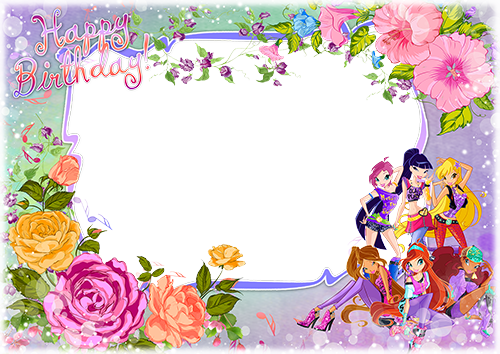 Cornici fotografiche - Happy Birthday with fairies from Winx club