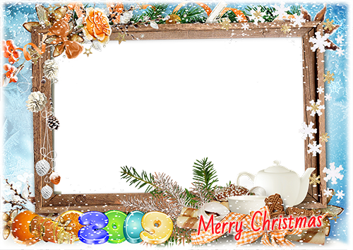 Photo frame - Happy New Year 2019. Winter photo frame