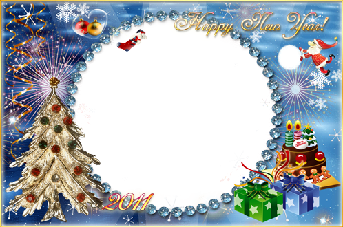 Photo frame - Happy new year and merry Christmas