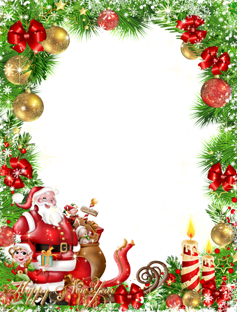 Photo frame - Happy new year from Santa
