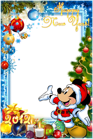 Photo frame - Happy New year with Mickey