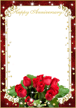 Photo frame - Wish you a happy anniversary