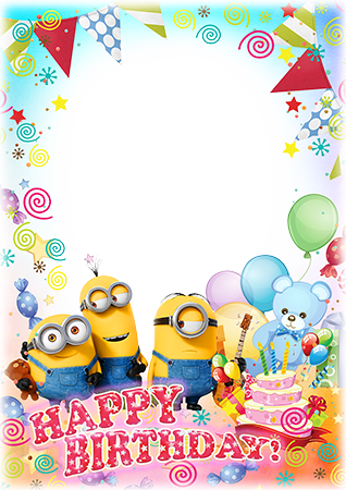 Фоторамка - Happy birthday wishes by Minions