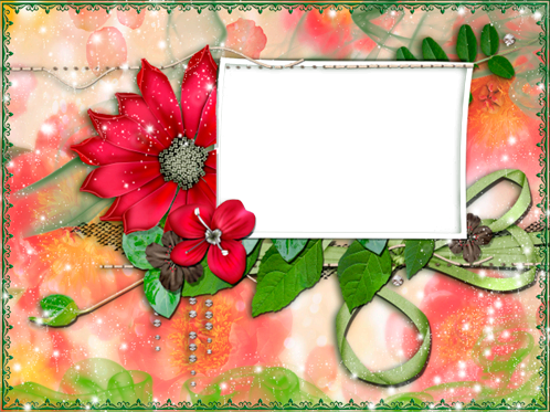 Photo frame - Heavenly flowers