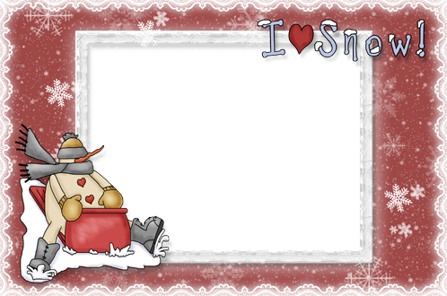 Photo frame - I love snow