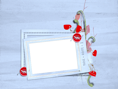 Photo frame - I love you and you love me