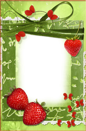Photo frame - Juicy strawberries