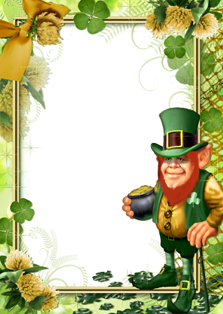 Photo frame - Leprechaun with gold