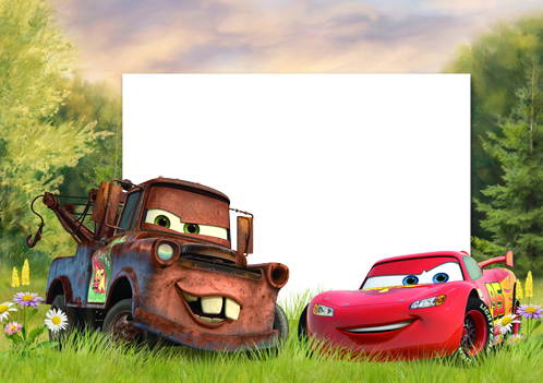 Photo frame - Lightning McQueen ready to start