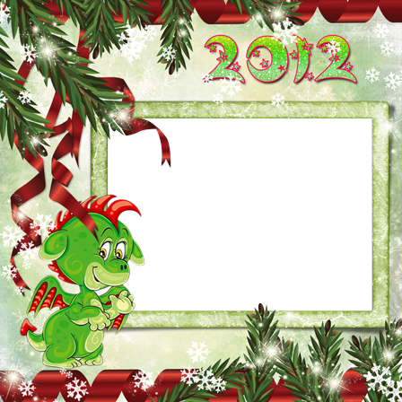 Photo frame - Little green dragon