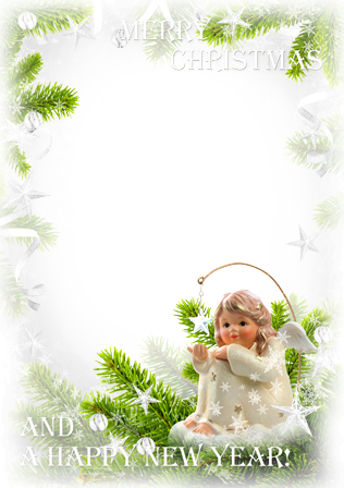 Photo frame - Little angel wish you a happy holidays