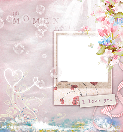Photo frame - Love photo frame with hearts