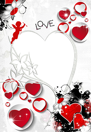 Photo frame - Love shaped in heart