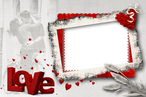 Photo frame - Madness of red love