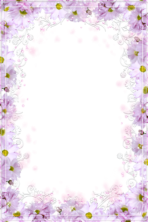 Photo frame - Magenta flowers