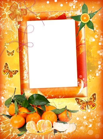 Photo frame - Mandarine happiness