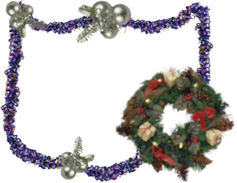 Photo frame - Xmas wreath for you