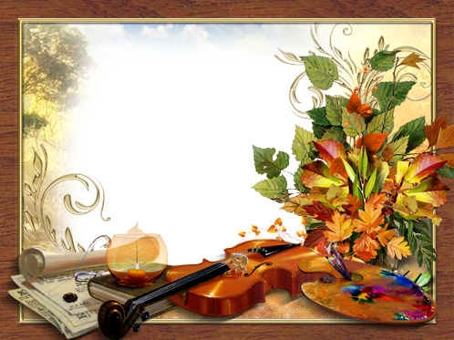 Photo frame - Melody and colors of autumn