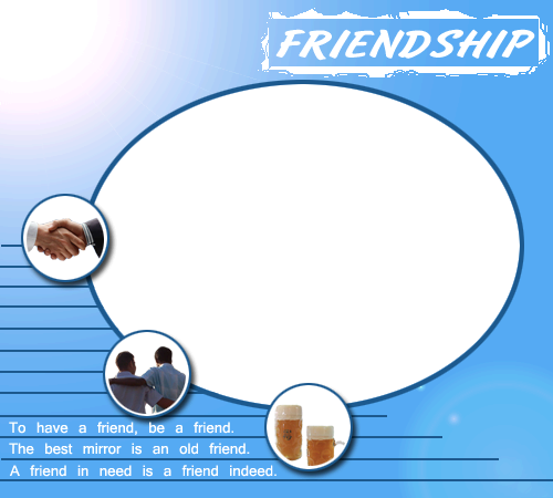 Photo frame - Men friendship