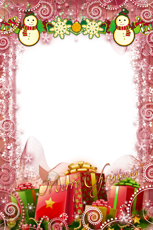 Photo frame - Merry happy Christmas