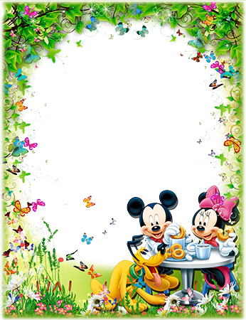 Marco de fotos - Mickey and Minnie Mouse with Pluto