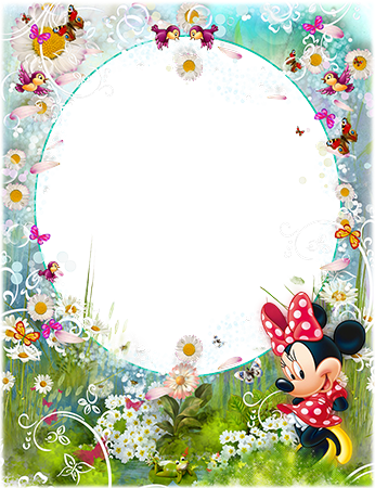 Photo frame - Minnie Mouse and chamomiles