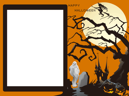 Photo frame - My Halloweens happy when I freak out with you