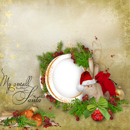 Photo frame - My little Santa
