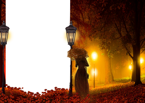 Photo frame - Mysterious light in the autumn night