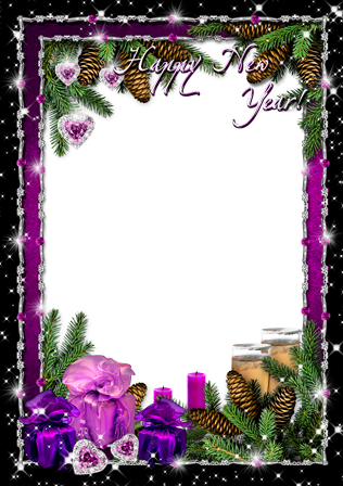 Photo frame - New year's shine