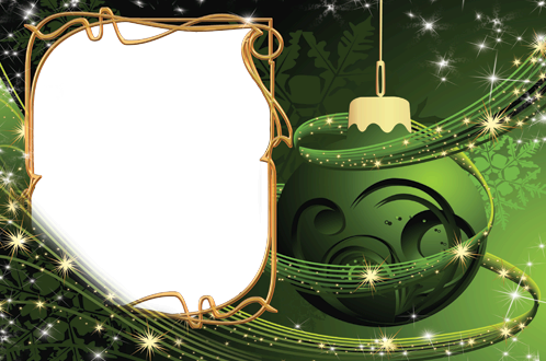 Photo frame - New year in green