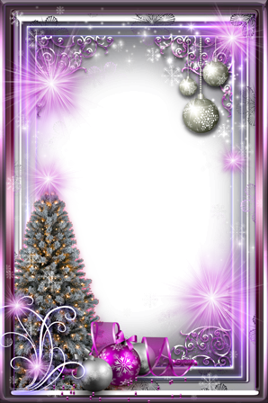 Photo frame - New year purple gloss