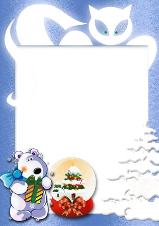 Photo frame - New year winter tale