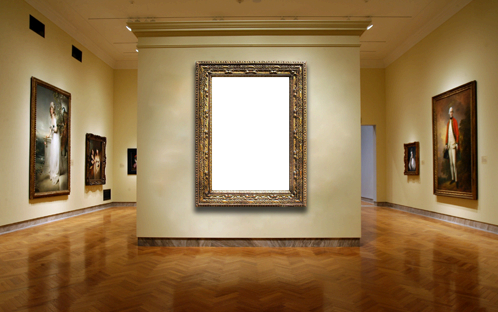 Photo frame - Paint in the museum