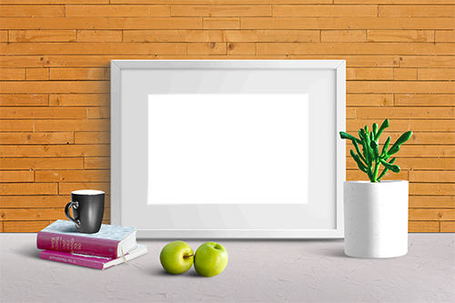 Photo frame - Photo frame and two apples