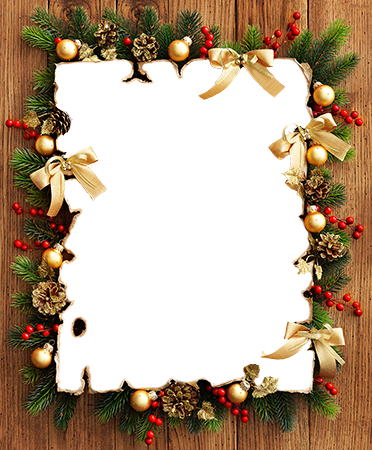 Photo frame - Photo frame from Christmas decorations