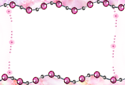 Photo frame - Pink beads