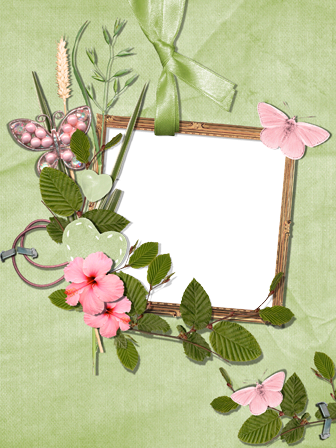 Photo frame - Pink butterflies