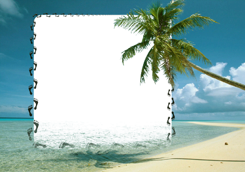 Photo frame - Pleasure of desert island