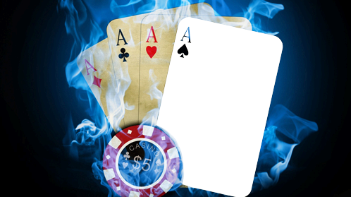 Photo frame - Poker. four of a kind