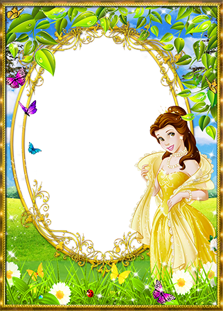 Marco de fotos - Princess Belle in the wooded meadow