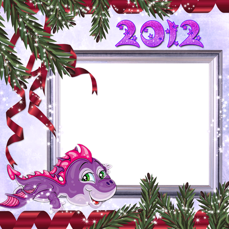 Photo frame - Purple little dragon