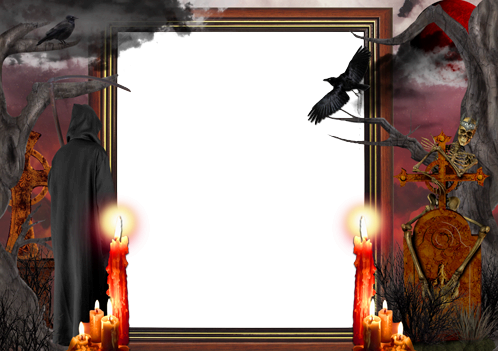 Photo frame - Real Halloween horror