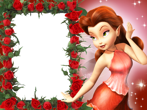 Photo frame - Red fairy