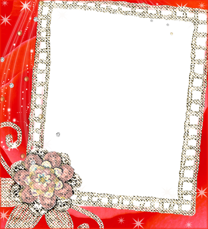Photo frame - Red flowers fantasy